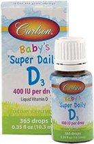 Carlson Labs Super Daily D3 para bebé 400 UI