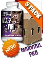 MAXVIRIL PRO ESTIMULANTE SEXUAL PARA HOMBRES 60 X 5 FRASCOS.