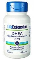 LIFE EXTENSION DHEA FORMULA ANTIENVEJECIMIENTO 25 MG 100 CAPSULAS