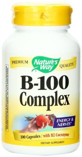 Forma de vitamina B-100 Complex de la naturaleza, 100 cápsulas