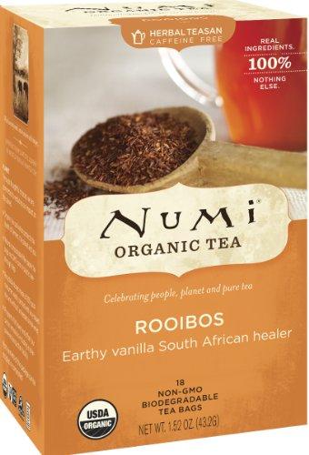 Numi orgánico del té Rooibos, hierbas Teasan, cuenta 18 bolsas de té (paquete de 3)