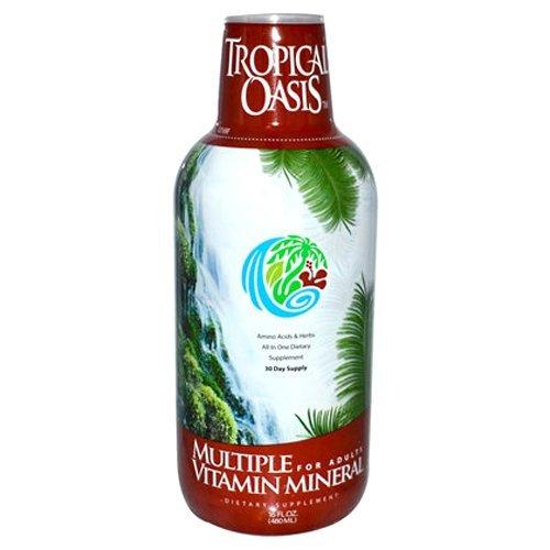 Tropical Oasis Multi vitamina y Mineral suplemento líquido--16 onzas, 32 porciones