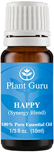 Feliz sinergia aceite esencial mezcla 10 ml. 100% puro, sin diluir, terapéuticas grado. (Mezcla de: Rosa pomelo, limón, casia, jengibre, menta)