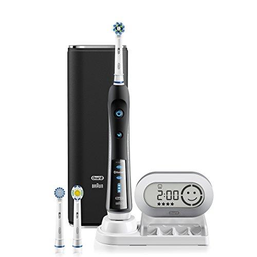 Oral-B negro 7000 potencia SmartSeries de cepillo de dientes eléctrico recargable con conectividad Bluetooth alimentado por Braun