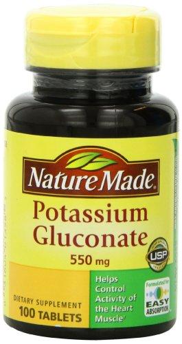 Naturaleza gluconato de potasio 550mg, 100 tabletas de (Pack de 3)