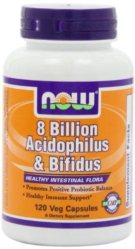 AHORA alimentos Acidophilus/bifidus 8 billones, 120 cápsulas