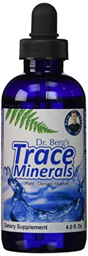 Planta base de trazas minerales - beneficios para la Salud Natural de gran alcance - electrolito hidratación, activación enzimática para pelo, uñas, piel y huesos por el Dr. Berg (botella de 4 oz)