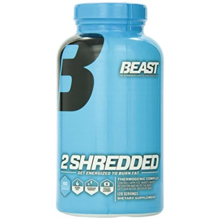 Beast Sports Nutrition 2 Shredded Complejo termogénico Weight Loss Capsules 120 Conde