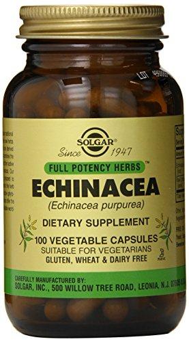 Solgar cápsulas vegetales de equinácea potencia completo, conteo de 100