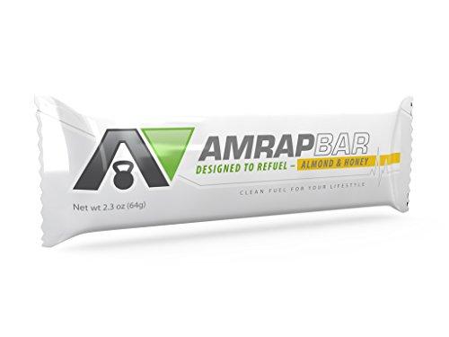 Libre de AMRAP BAR (paquete de 8) almendra y miel - 100% libre de Natural Paleo barras de proteína, Gluten, productos lácteos, trigo GMO libre, no, comida Paleo, Paleo Snack o tratar de Paleo. Su barra de energía saludable.