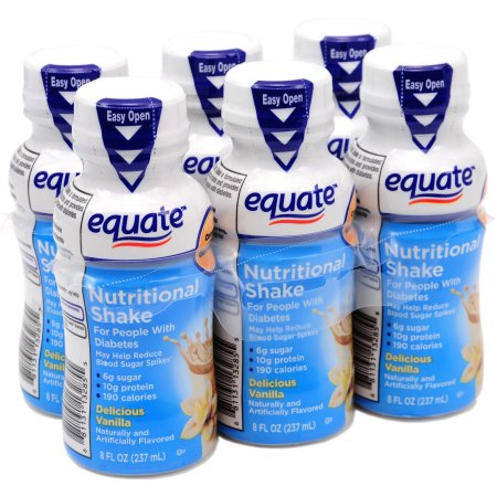 deliciosa vainilla diabética Nutritional Shake 8 onzas fluidas 6 recuento