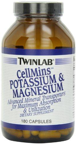 Twinlab CellMins potasio y magnesio, 180 cápsulas (paquete de 2)