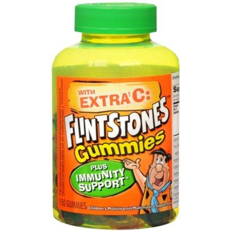 Picapiedra Gummies Plus Inmunidad Soporte de multivitaminas 150 cada uno (Pack de 2)