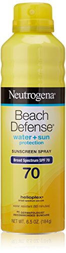 Playa de Neutrogena Spray defensa amplio espectro SPF 70 bloqueador, 6,5 onzas