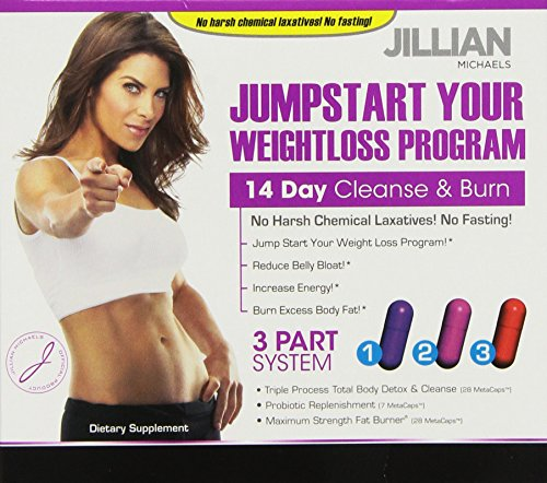 14 Days Jillian Michaels Jumpstart Cleanse Burn Kit 63 Caps
