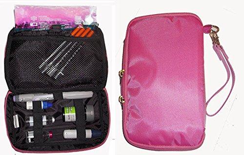Bolso organizador refrigerador diabético-para insulina, fuentes de prueba, W/1 x paquete de hielo incluido - rosa