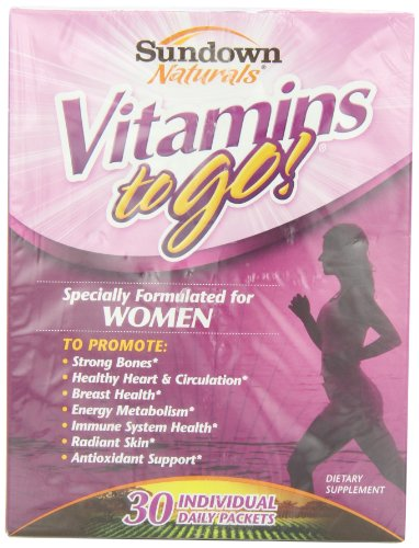 Paquetes Sundown Naturals Vit-a-go mujeres - ct 30, cajas