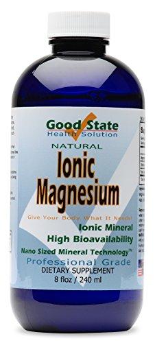 Buen estado - líquido iónico minerales magnesio (96 porciones elementales - 100 mg y 2 mg de ácido de fulvic) 8 floz