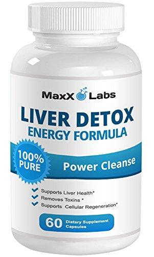 Limpieza de hígado mejor suplementos - nuevo - proporciona soporte hepático - toda fórmula Natural desintoxicación hepática ayuda a metabolizar la grasa y eliminar toxinas, promueve la salud del riñón y la vejiga de rozadura - 60 Caps - abastecimiento de
