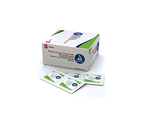 Dynarex 1113 látex libre estéril Alcohol Prep Pad (caja 200)