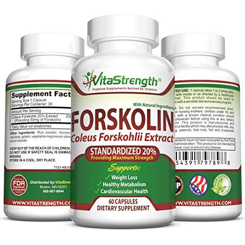 La forskoline Premium para bajar de peso - extracto puro de forskoline estandarizado 20% para fuerza máxima - forskoline Belly Buster - Coleus Forskohlii - suplementos de pérdida de peso y productos para hombres y mujeres