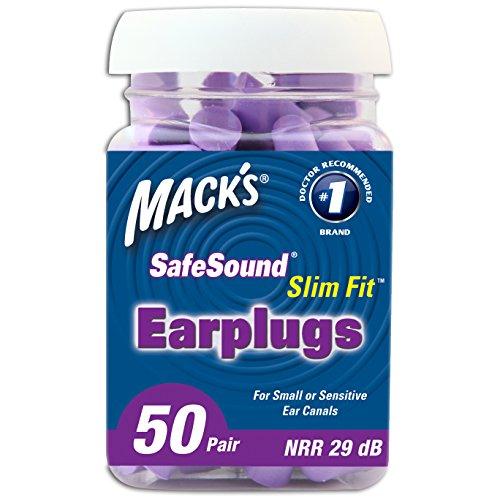 Cuidado de oído de Mack Slim Fit tapones de espuma suave, 50 par