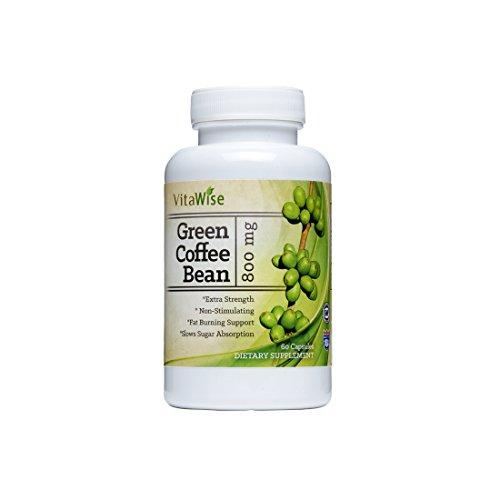Grano de café verde extracto fórmula - el más alto grado de calidad y antioxidantes ACG (estandarizado al ácido clorogénico 50%) para hombres y mujeres (la mejor fórmula) - quema tanto grasa y azúcar como médicos recomendamos - garantizado por VitaWise