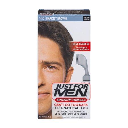 Just For Men AutoStop Fórmula Fácil Peine-A50 en Color de pelo Brown más oscuro 1.2 OZ