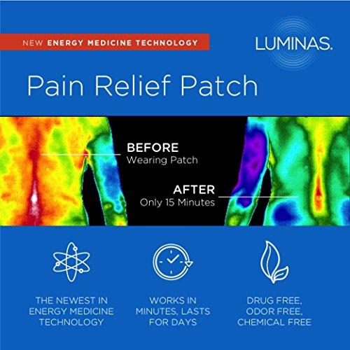 Luminas parche de alivio de dolor (para la artritis, dolor de espalda, dolor de cadera, dolor de cuello, dolores de cabeza, hombro, rodilla, calambres menstruales, tendinitis, dolor en el pie y otros dolores comunes y dolores)