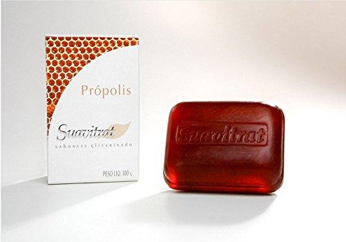 Suavitrat Natural limpieza jabón propóleos (Sabonete Própolis, paquete de 1)