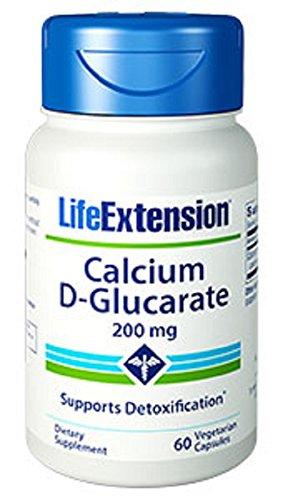Vida extensión calcio D-Glucarate 200 Mg, 60 cápsulas vegetarianas