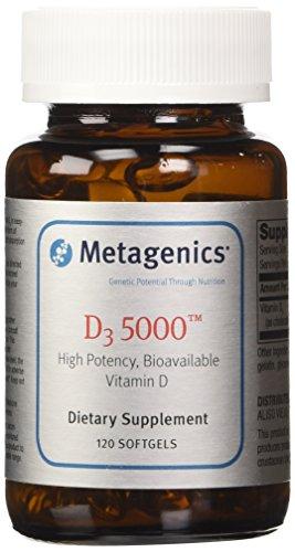 Metagenics, D3 5000, 120 cápsulas