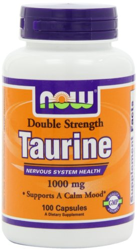 Ahora alimentos Taurina 1000 Mg, 100 cápsulas
