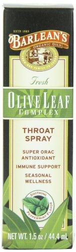 Hoja de oliva aceites bio Spray para la garganta complejo de Barlean, 1.5 onzas