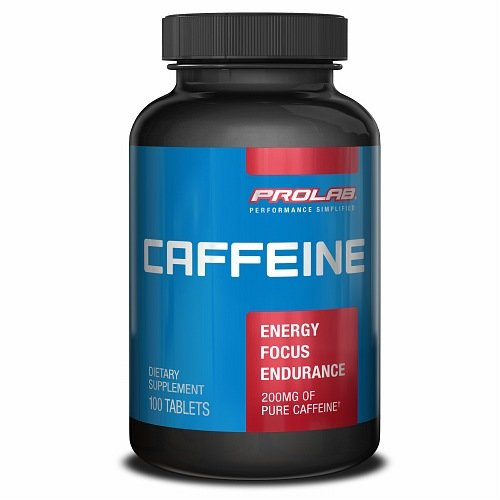 Cafeina Prolab, 200mg, 100 tabletas de ea