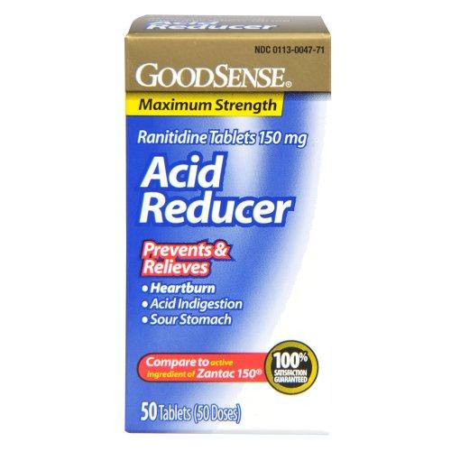 Reductor de ácido de GoodSense, tabletas de ranitidina, 150 mg, 50-cuenta