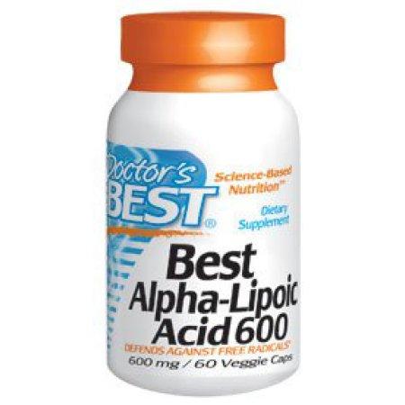 Mejores ácido alfa lipoico 600mg Doctors Best 60 VCaps