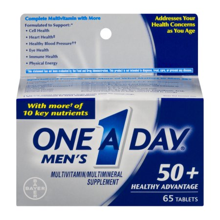 One A Day Hombre 50 saludable multivitaminas Advantage 65 ct