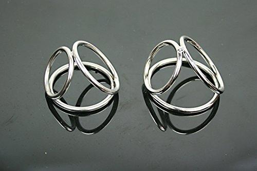 Loco K y una nueva acero Cockring polla anillos pene anillo jaula juguetes diámetro 4,5 cm