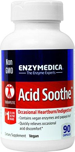 Enzymedica - ácido calmar, ocasional acidez estomacal y la indigestión, 90 cápsulas