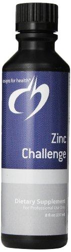 Diseños para salud Zinc desafío líquido, 8 onzas de líquido