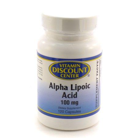 100 mg ácido alfa lipoico Por Vitamin Discount Center - 120 Cápsulas