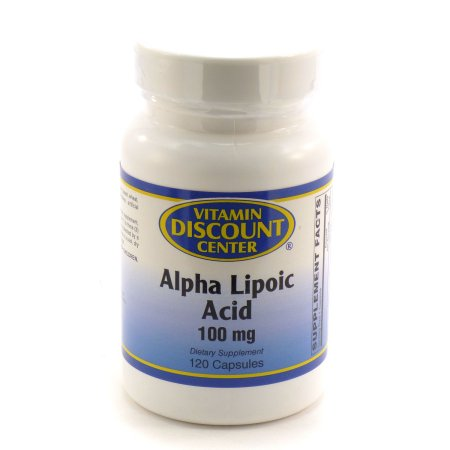 100 mg ácido alfa lipoico Por Vitamin Discount Center - 120 Cápsulas