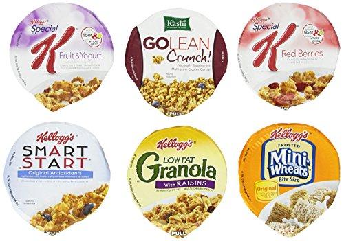 Cereales Copa surtido Pack de Kellogg - Wellness (6 sabores), Pack de 60