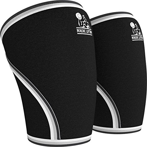 La rodilla de manga (1 par) apoyo y compresión para levantamiento de pesas, levantamiento de pesas y CrossFit - funda de neopreno de 7mm para el mejor sentadilla - ambas mujeres y hombres - levantando nórdico ™ - medio, 1 año de garantía