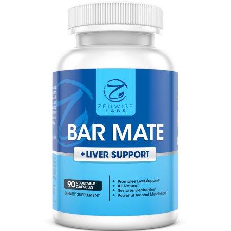 Bar Mate - resaca de Ayuda y Soporte de hígado Suplemento - Para Dolor de cabeza mareos y náuseas Prevención - Restaura elect
