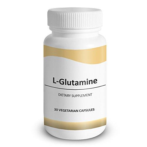 L-glutamina, fórmula versátil salud - combate la Colitis ulcerosa, úlceras de estómago y perder músculo - promover la salud intestinal, reparación de heridas, función inmune, 30 cápsulas