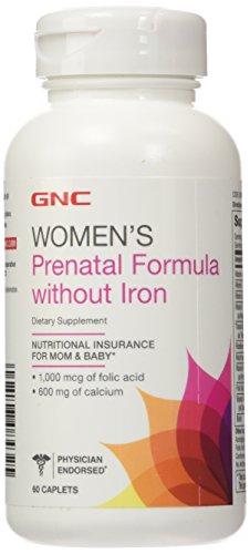 Fórmula Prenatal de GNC sin hierro 60 cápsulas