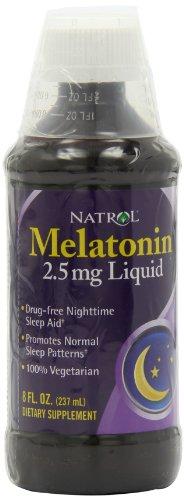 Natrol melatonina 2.5mg líquido, 8 onzas de líquido