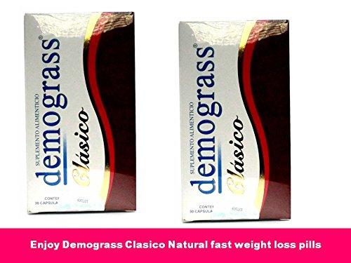 Demograss Clasico rápido peso pérdida dieta píldoras 2 Pk 60 quemador de grasa pastillas